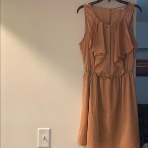 Golden peach dress